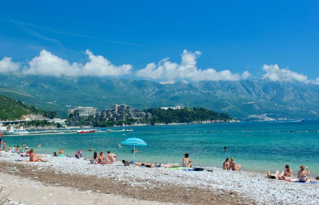 Main beach in Budva (Slovenska Plaža) (guide to Kotor)