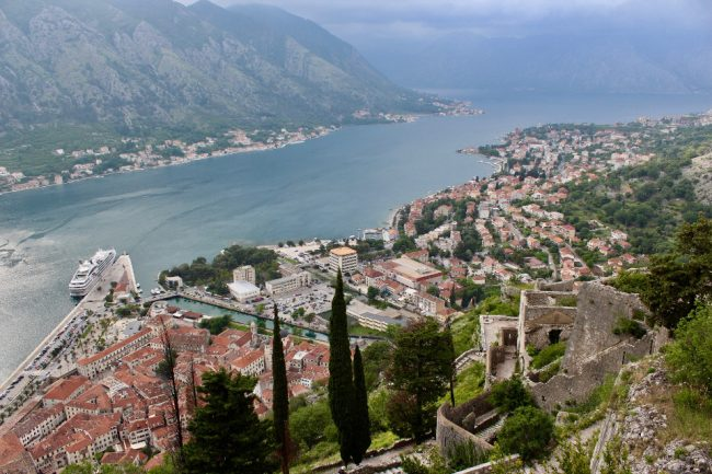 View from atop Kotor's walls (guide to Kotor)
