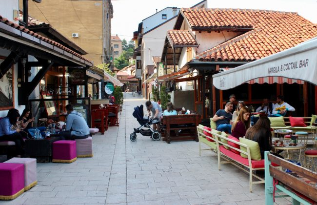 Inside the Old Town of Sarajevo (Baščaršija) (solo woman in Bosnia)