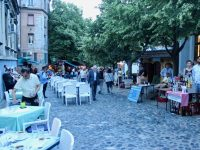 Skadarska Street, Belgrade, in the evening