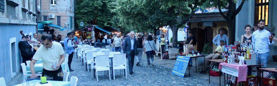 Skadarska Street, Belgrade, in the evening