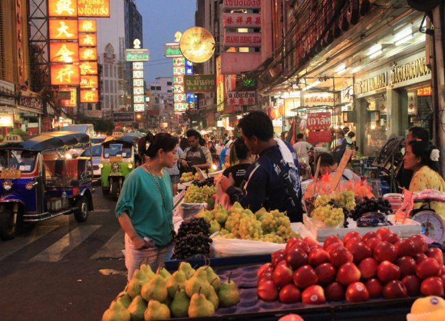 A night market in Bangkok (first time in Bangkok)
