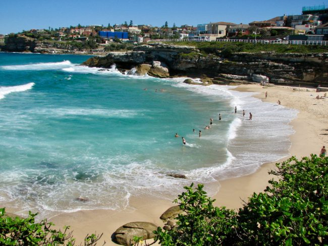A beach in Sydney (travelling Australia on a budget)