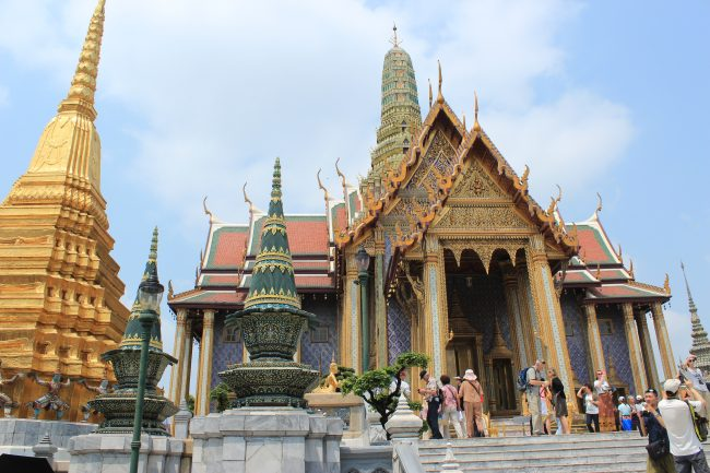 Grand Palace complex in Bangkok (first time in Bangkok)