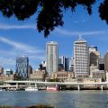 Brisbane waterfront (travelling Australia on a budget)