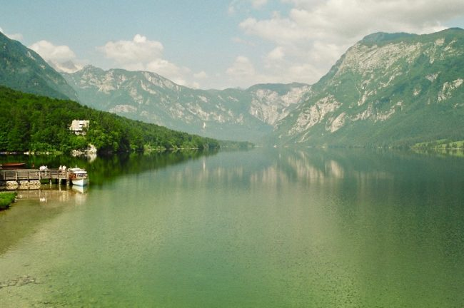 Peaceful Lake Bohinj and Julian Alps, Slovenia (overtourism)