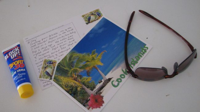 Sending postcards from abroad (keeping in touch while travelling)