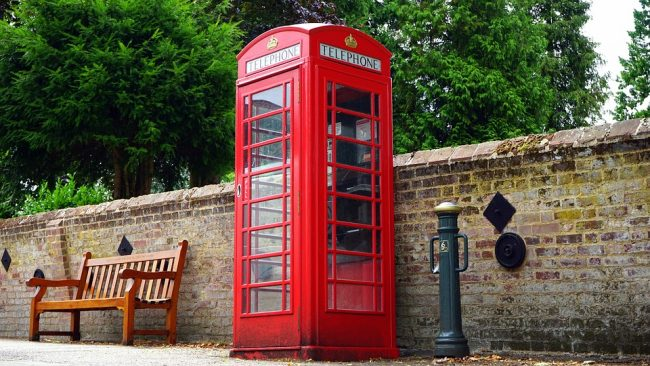 British phone booth (keeping in touch while travelling)