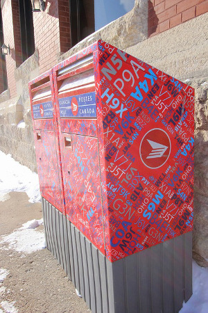 Canadian mailboxes (keeping in touch while travelling)