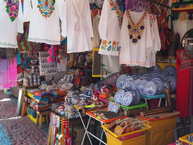 Handicrafts at El Parián Market (things to do in Puebla)