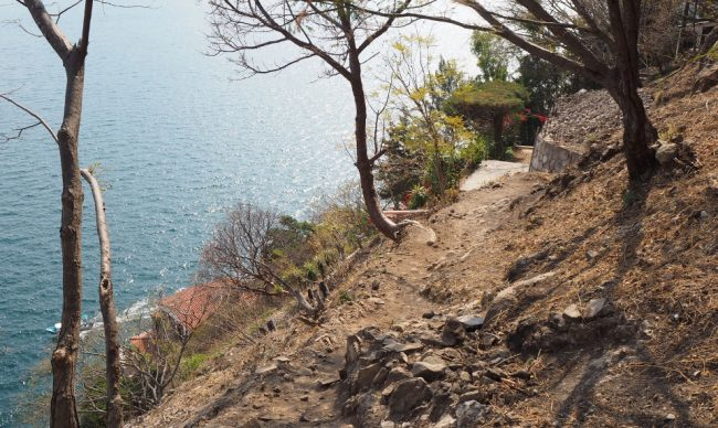 Part of the hiking trail between Santa Cruz and Jaibalito (visit Lake Atitlan )