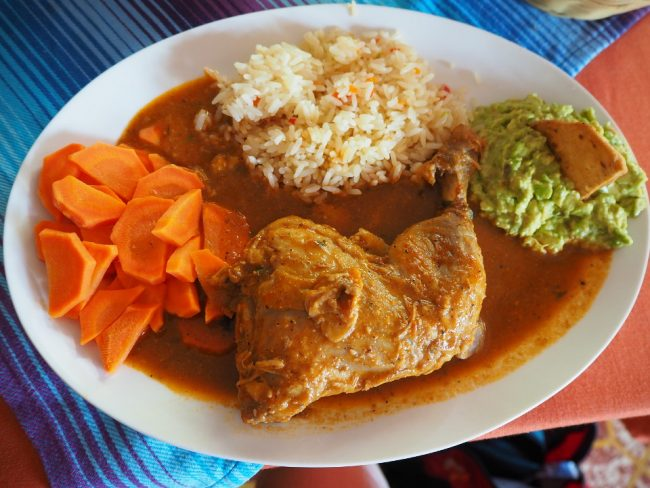 Set lunch at Cafe El Cisne, Panajachel (visit Lake Atitlan )