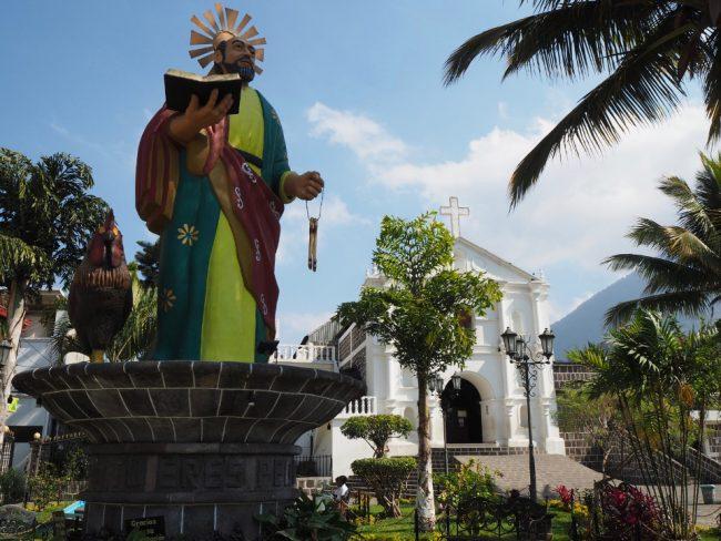 Statue of San Pedro in San Pedro Municipal Park (visit Lake Atitlan )