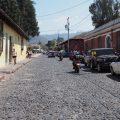 Rough cobblestones and cracked sidewalks in Antigua Guatemala