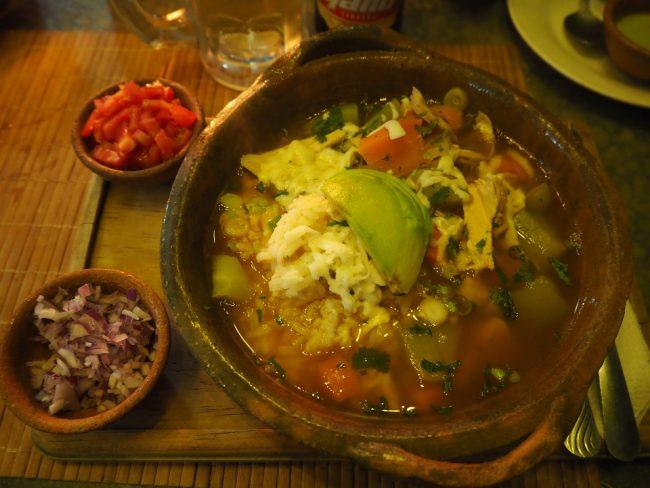Nutritious soup at La Casa de las Sopas, Antigua Guatemala