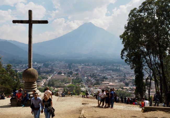 View from Cerro de la Cruz (things to do in Antigua Guatemala)