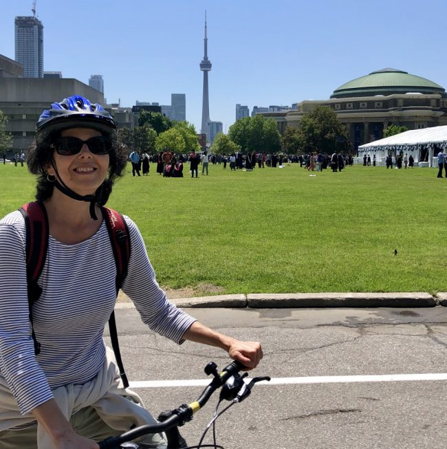 Trading my Tilley hat for a bicycle helmet! (guided cycling tour)