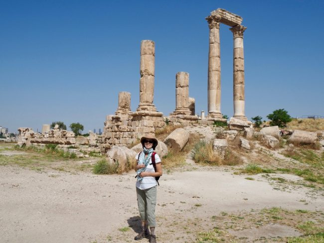 Visiting the Amman Citadel (solo woman in Jordan)