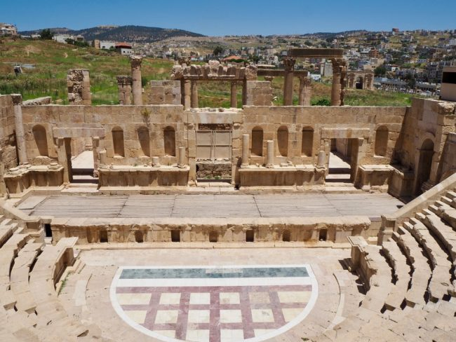 Jerash North Theatre (places to visit in Jordan)