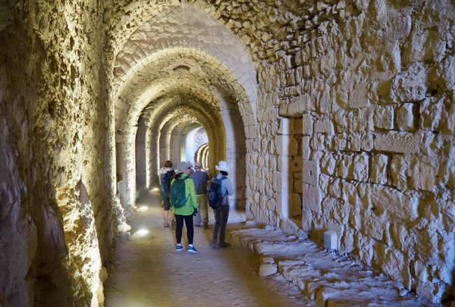 Inside Karak Castle (places to visit in Jordan)