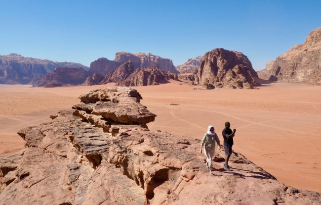 A rock bridge in Wadi Rum (places to visit in Jordan)