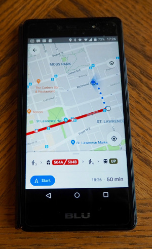Google Maps app (how I use my phone when I travel)