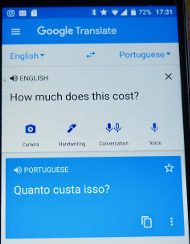 Google Translate app (how I use my phone when I travel)
