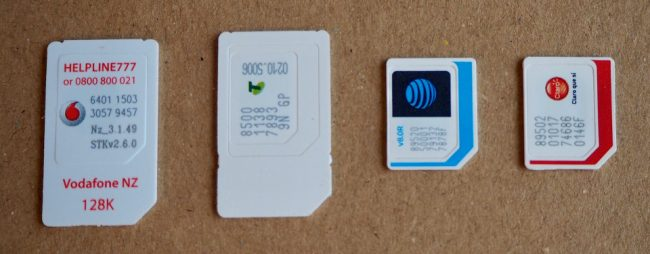 SIM cards (different sizes and countries/providers) (how I use my phone when I travel)