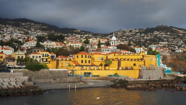 East Funchal with ominous clouds (best winter destinations in Europe)