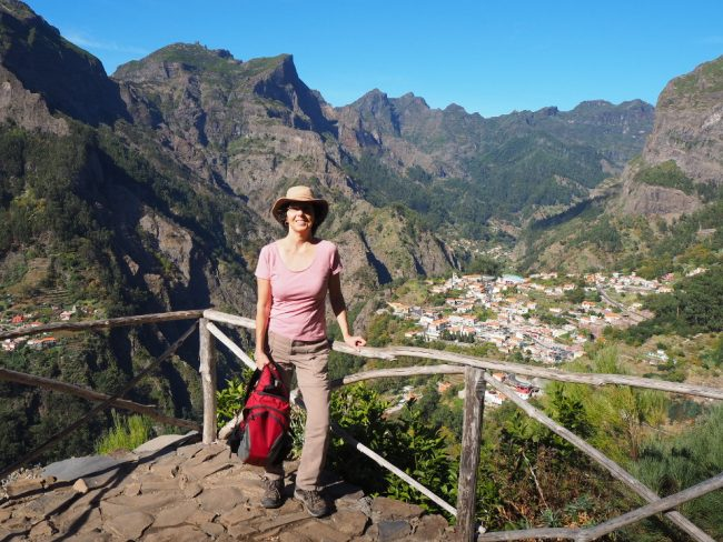 Halfway down the trail to Curral das Freiras (hikes in Madeira)