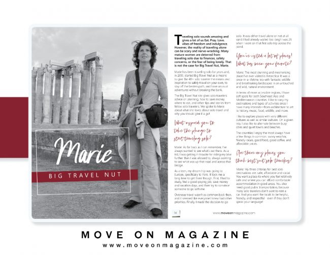 BigTravelNut interview in MoveOn magazine