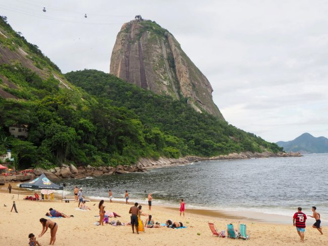 Vermelha Beach, Rio de Janeiro (first time in Rio)