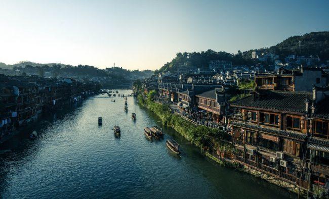 River cruise in Hunan China