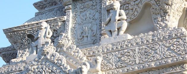 Detail on a stupa