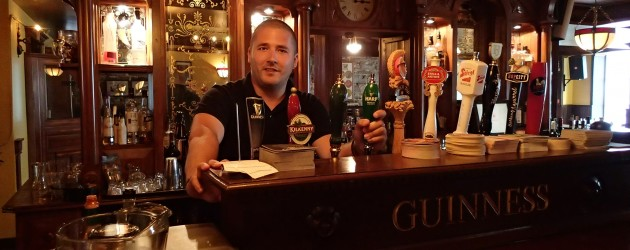 Graham behind the bar