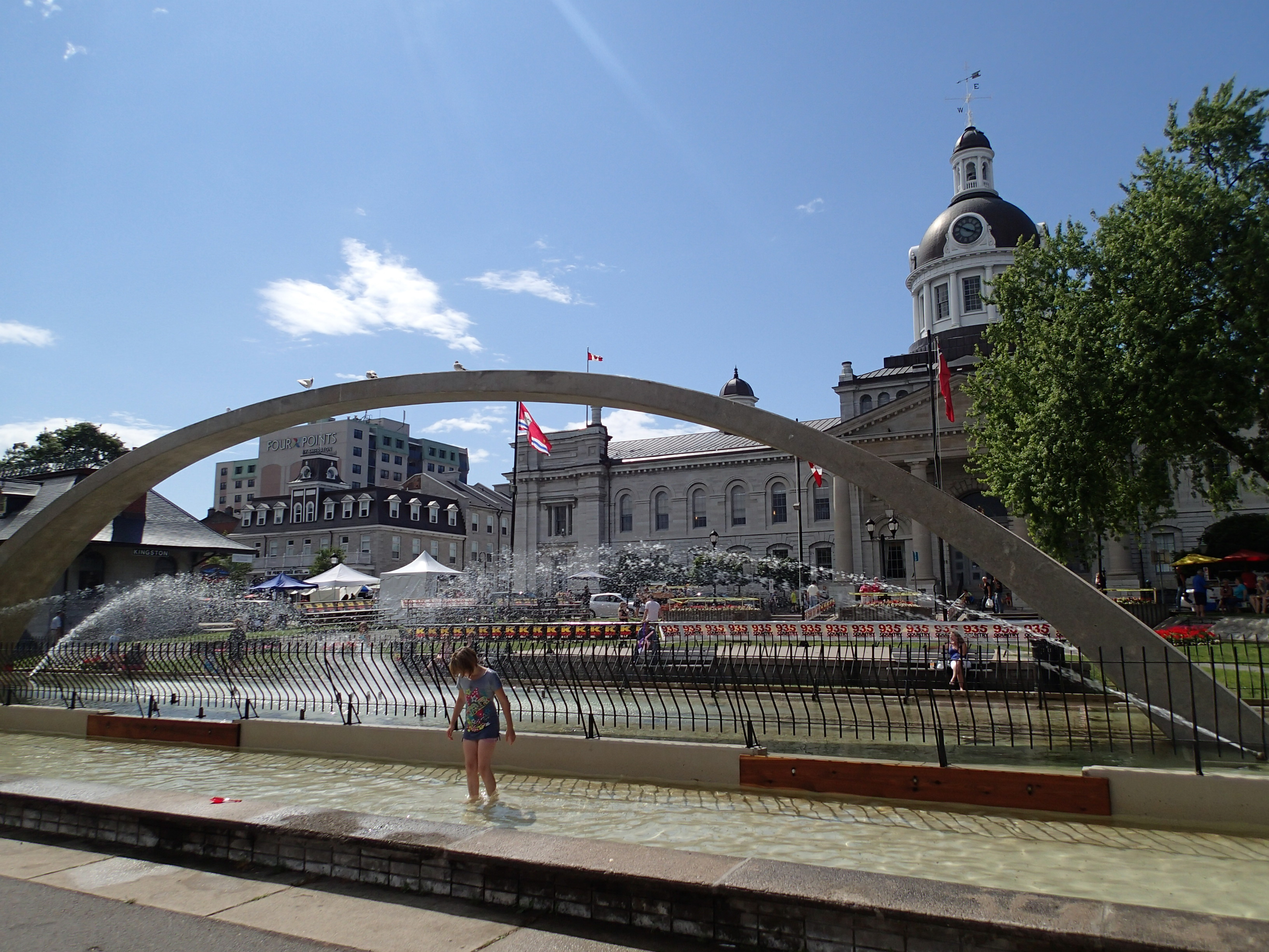City Hall and Confederation Fountain