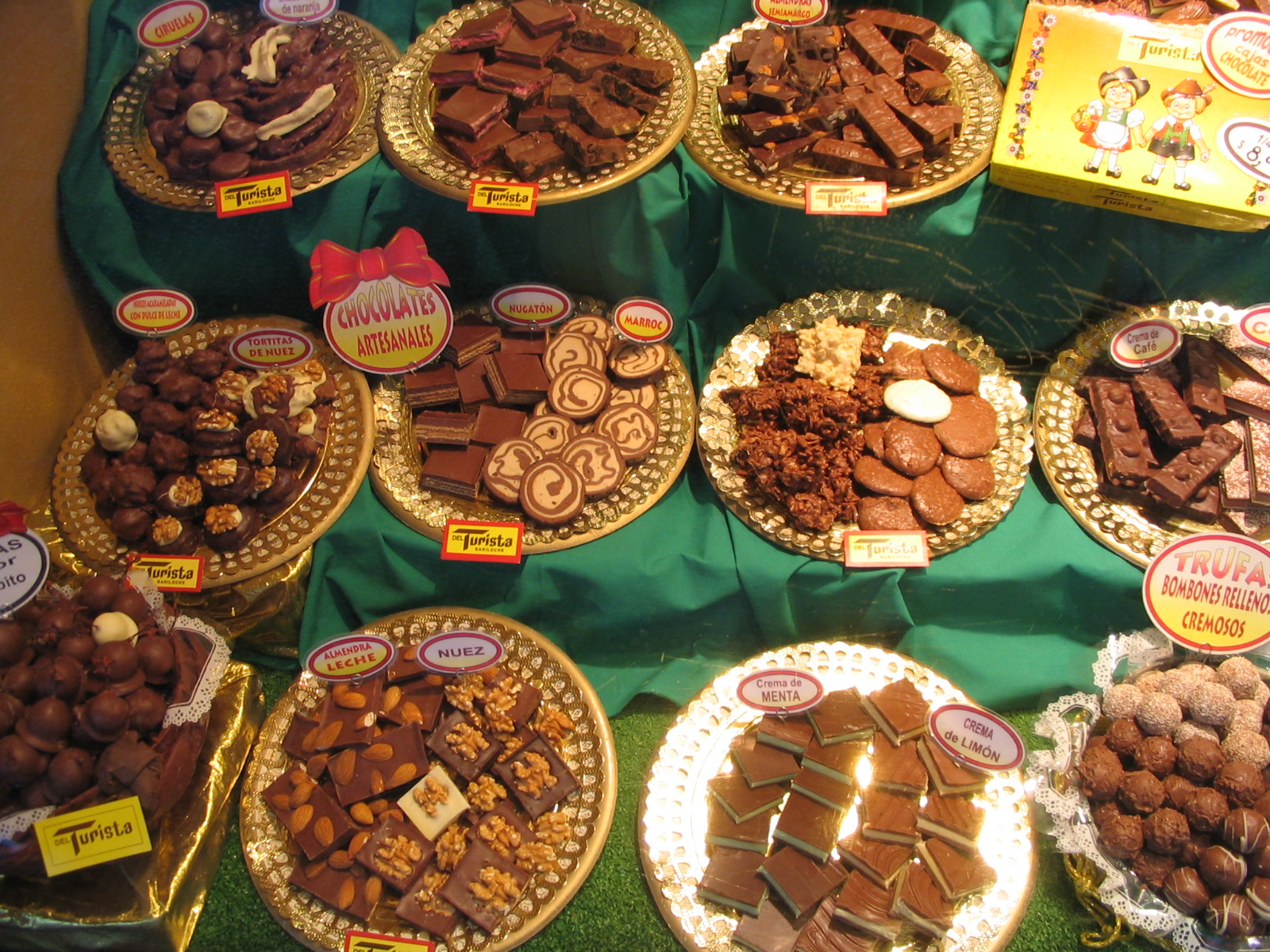 Chocolate offerings, Bariloche