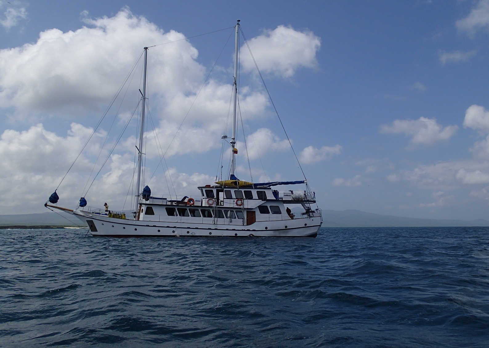 Our ship in the Galapagos