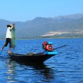 Leg rower on Inle lake