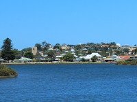 Southern part of downtown from across the inlet