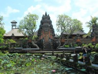 Ubud Water Temple and lotus pond