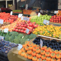 Colourful fruit and vegetable market