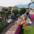 Rooftop terrace at La Olla (where to eat in Oaxaca)