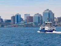Halifax skyline seen from the Dartmouth ferry