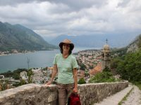 Climbing up to the fortress in Kotor